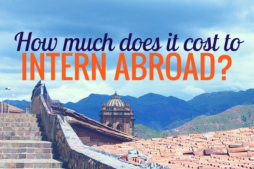 How much does it cost to intern abroad?