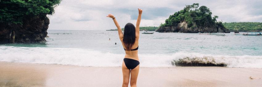 Enjoy the beach in Bali