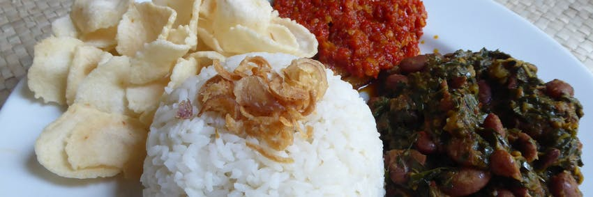 Typical meal in Bali