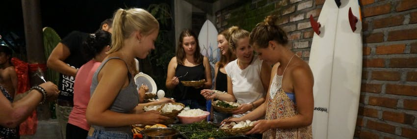 Dinner with friends in Bali