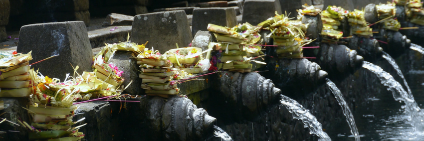 Temple offerings in Bali