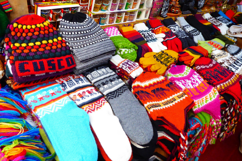 Fuzzy socks in Peru
