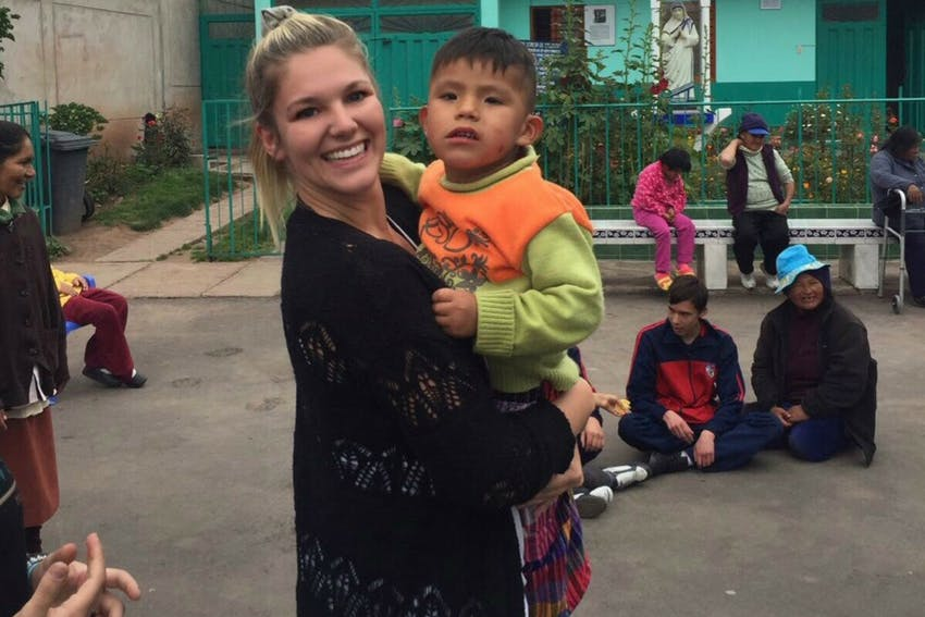 Playing with children during Special Neeeds Care in Cusco, Peru
