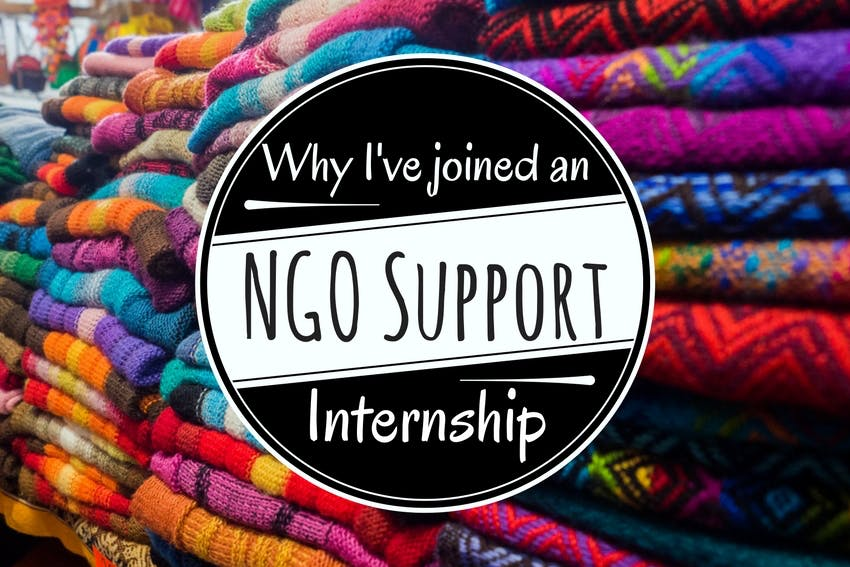 Why I've joined an NGO Support internship