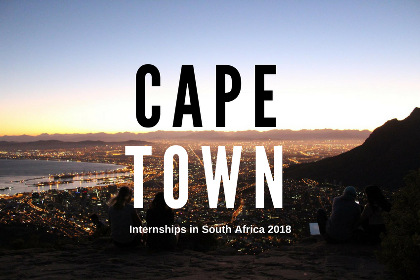 Internships in Cape Town, South Africa 2018