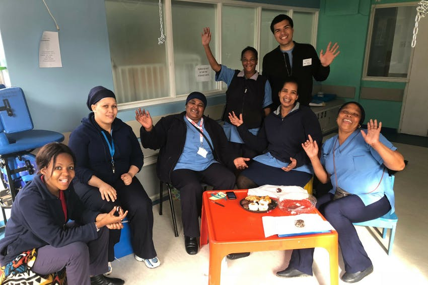 Public Health internship, intern at placement in Cape Town, South Africa