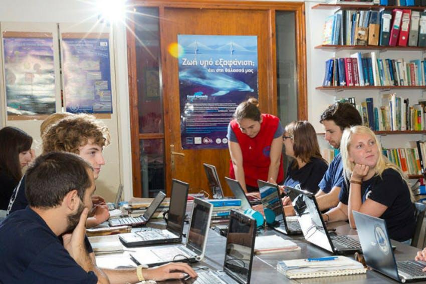 Media Interns working together in Greece, Intern Abroad HQ