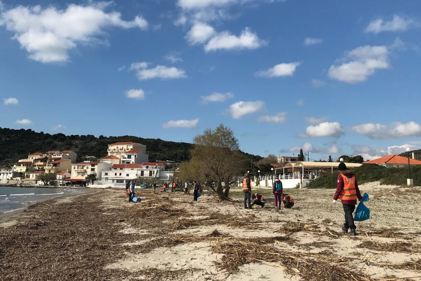 Macro plastic survey work during internship in Greece