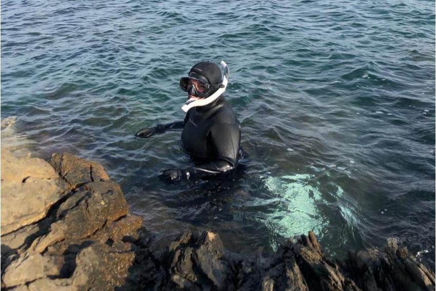 Snorkelling surveys during internship in Greece, Intern Abroad HQ