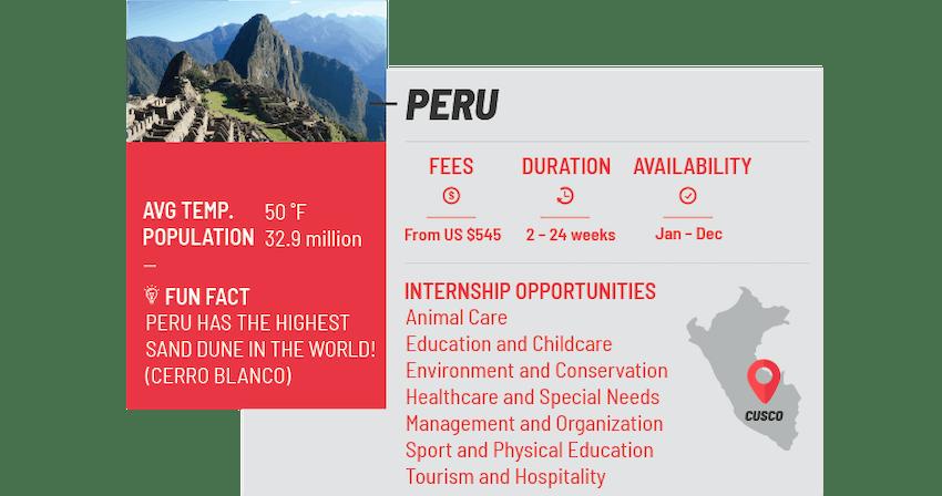 Best internship programs Peru