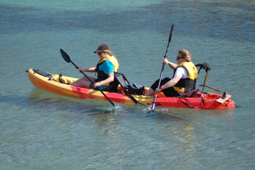 Interns kayaking in Greece, Intern Abroad HQ