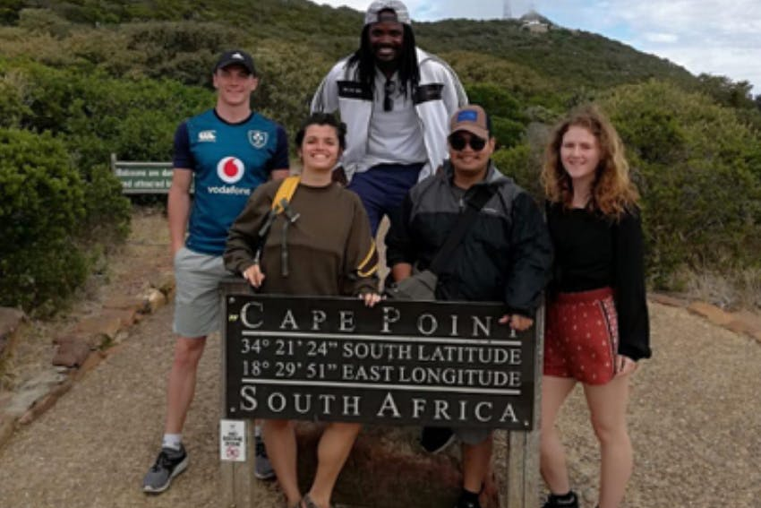 Interns at Cape Point in South Africa