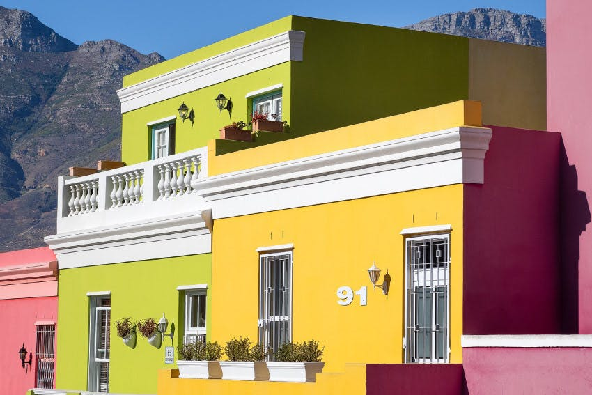 Colourful Bo-Kaap houses in South Africa