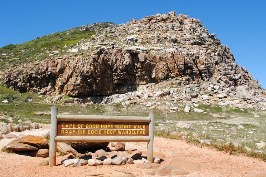 Interns on the Cape of Good Hope walk in South Africa