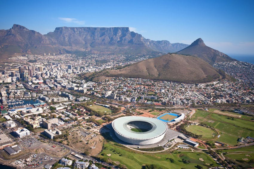 Stunning aerial view of Cape Town.