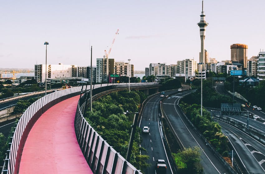 Auckland, New Zealand cycleway