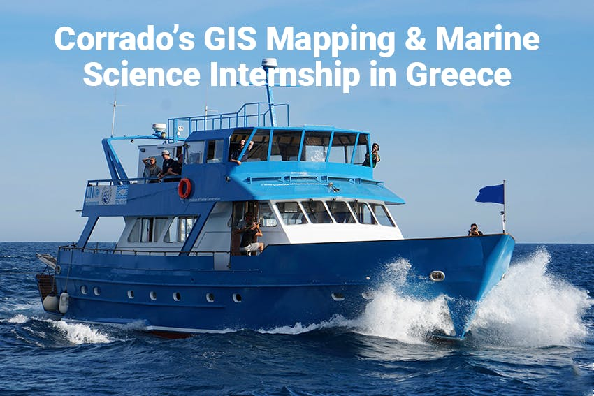 Corrado's GIS Mapping & Marine Science Internship in Greece with Intern Abroad HQ.