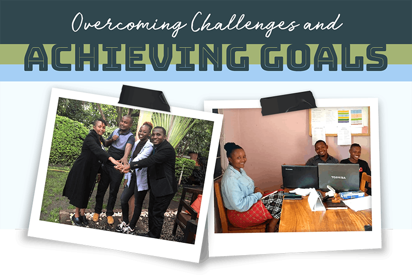 Overcoming challenges and achieving goals.
