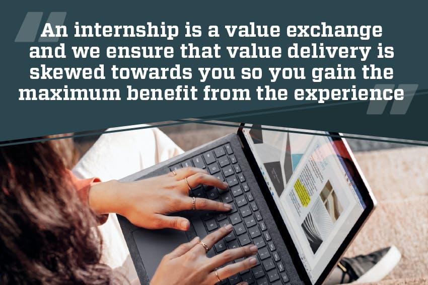 An internship is a value exchange