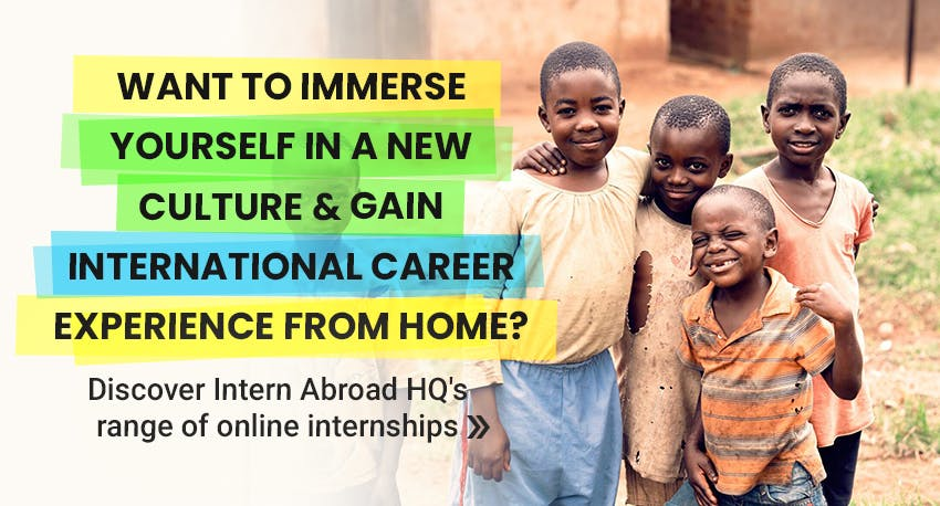 immerse yourself in a new culture & gain international career experience from home - Discover Intern Abroad HQ's range of online internships.