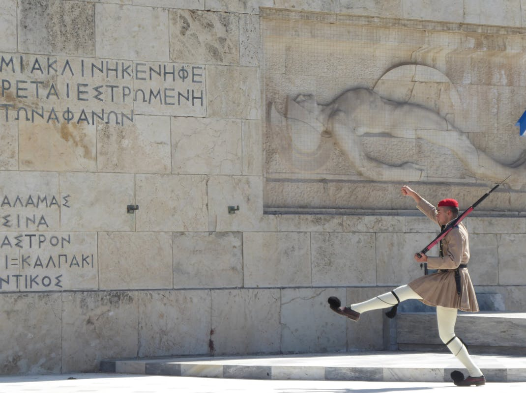 Greek Presidential Guard in Athens, intern in Greece with Intern Abroad HQ