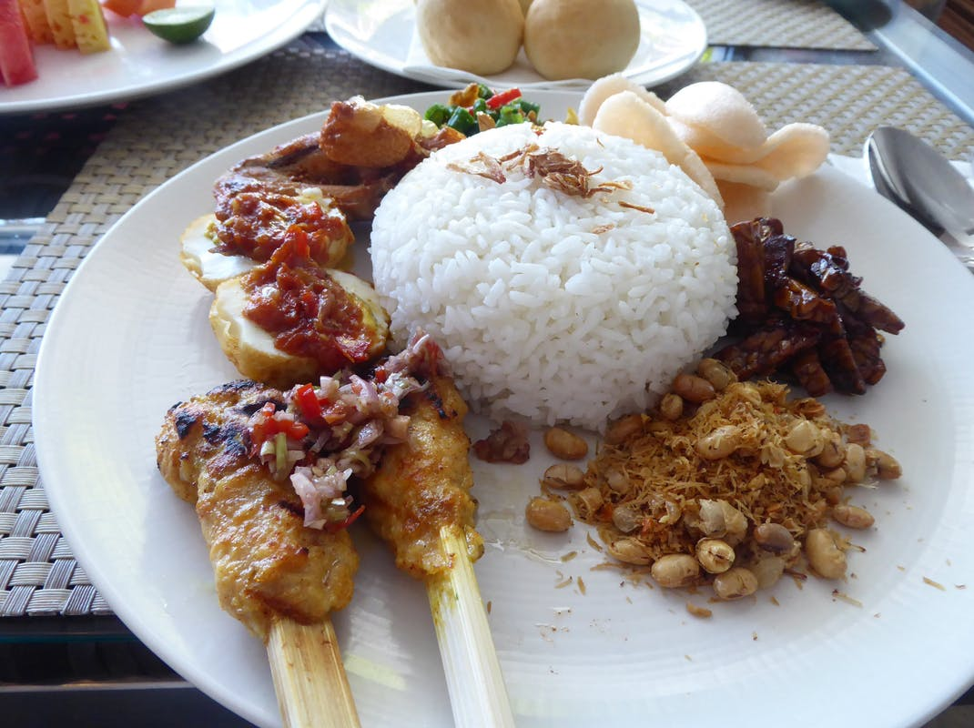Typical Balinese meal, Intern Abroad HQ