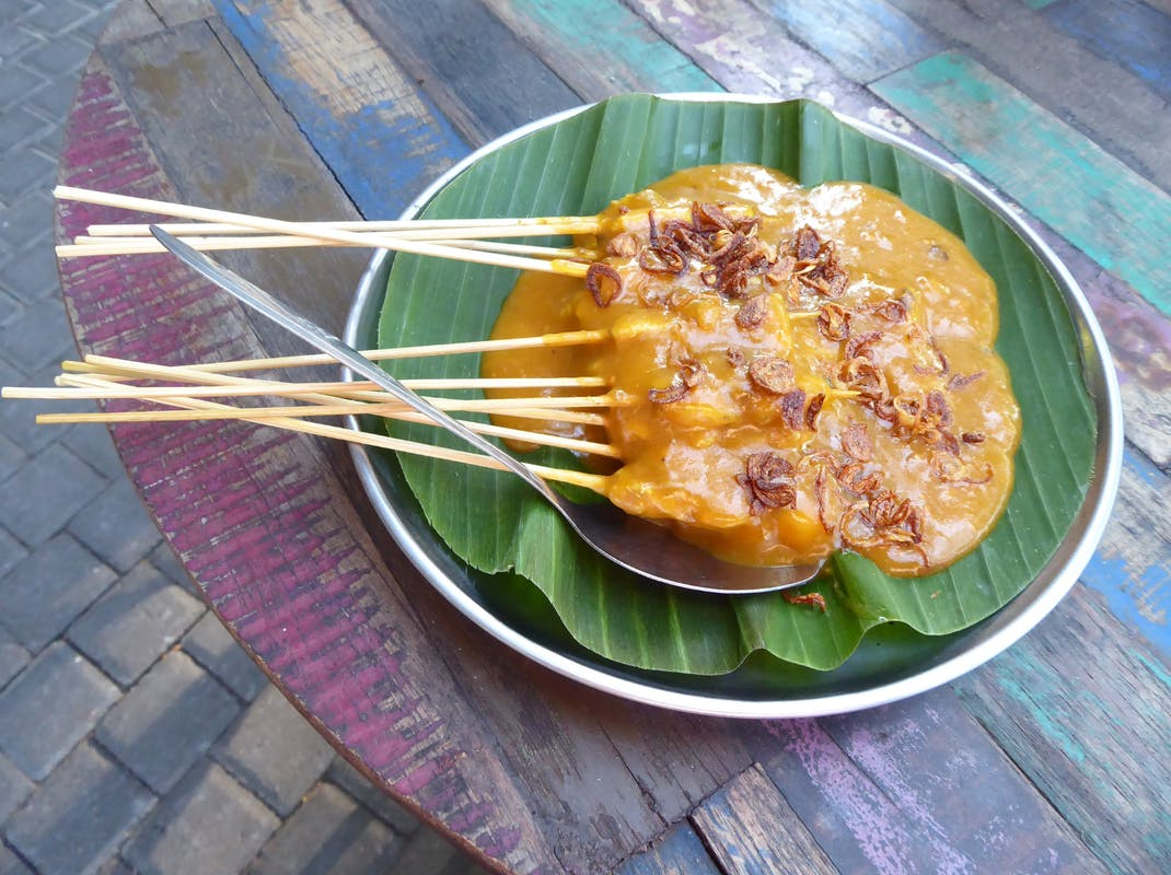 Typical Balinese satay meal, Intern Abroad HQ