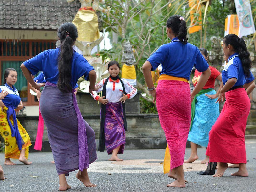 Cultural dancing in Bali