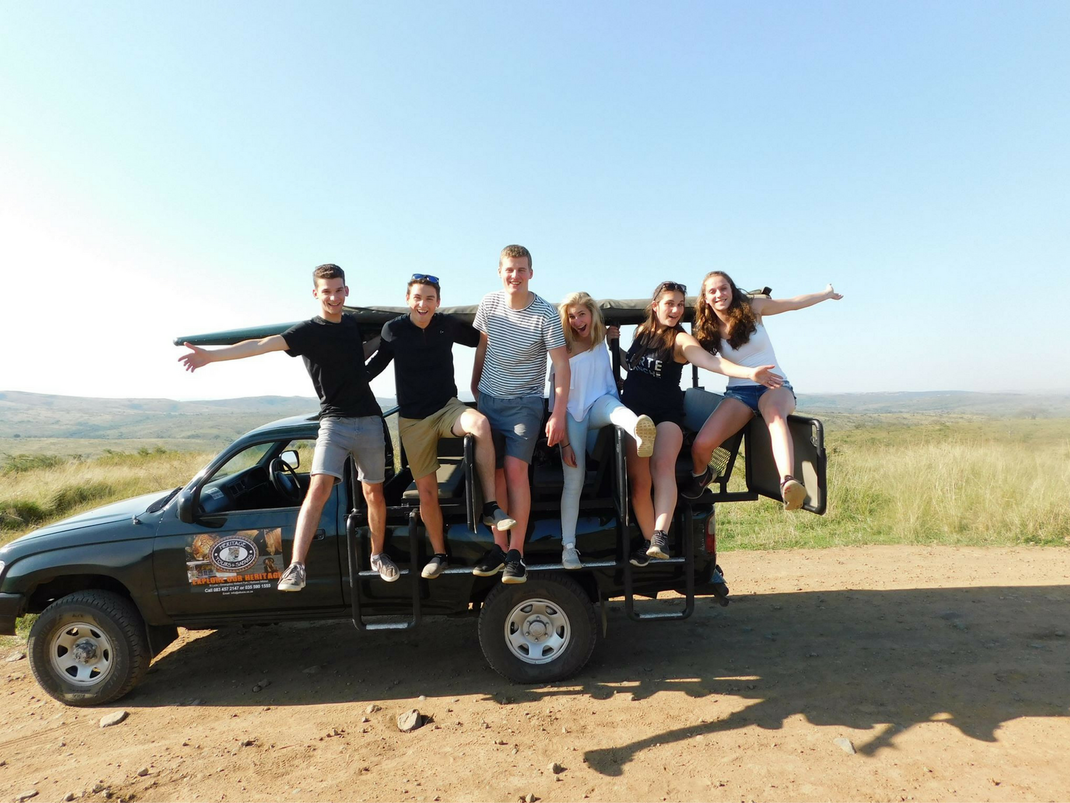 Cape Town interns on safari in South Africa