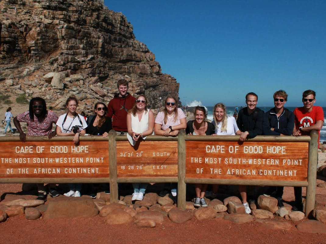 Internship students visit Cape of Good Hope South Africa