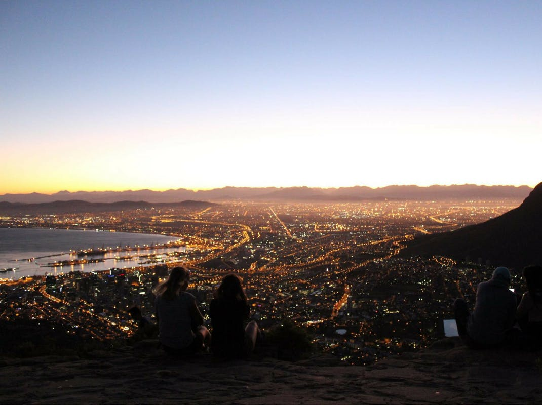 Internship students enjoy the Cape Town city lights