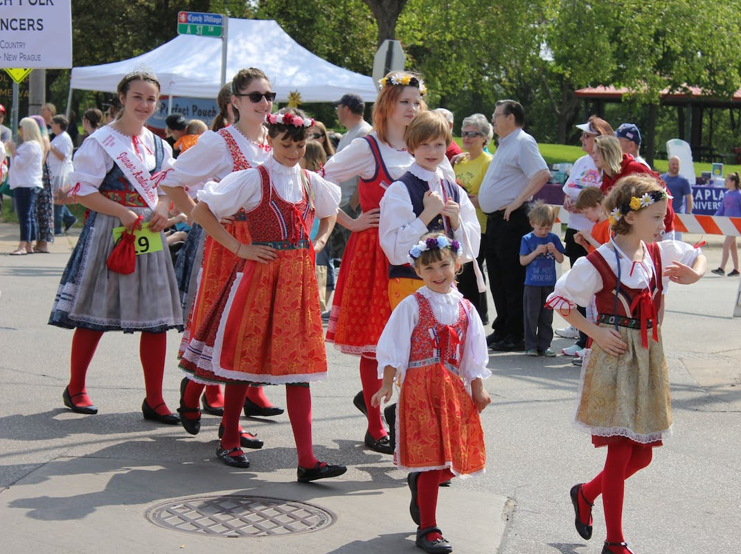 Traditional costume of the Czech Republic in Prague