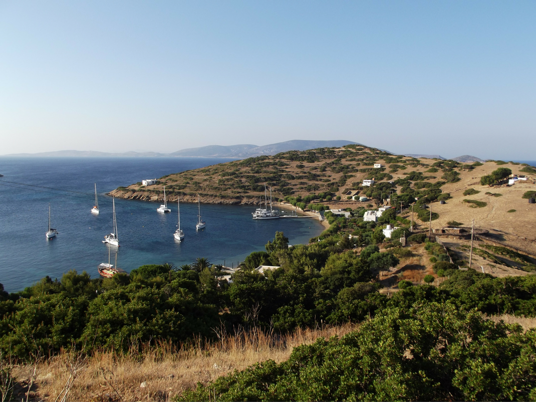 Marina view in Samos Greece