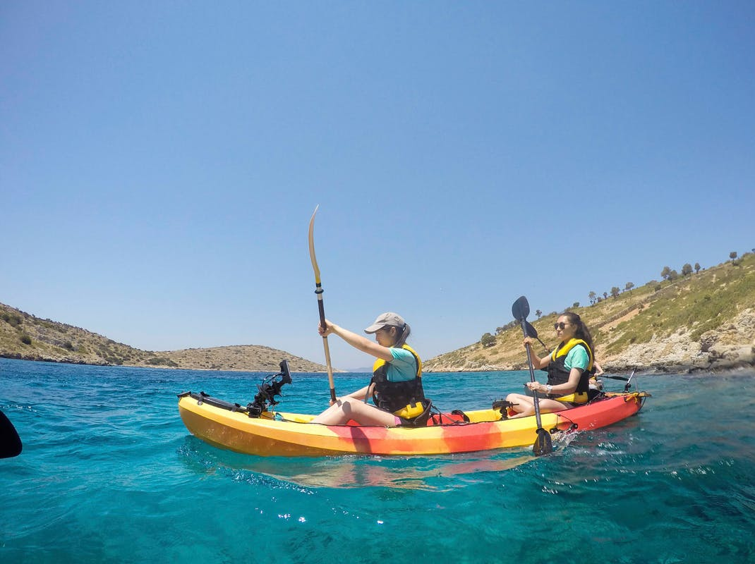 Kayaking for marine conservation in Greece