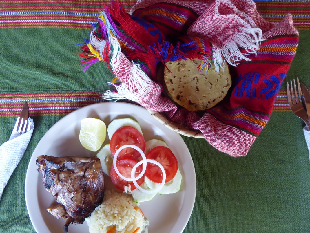 Typical Guatemalan meal
