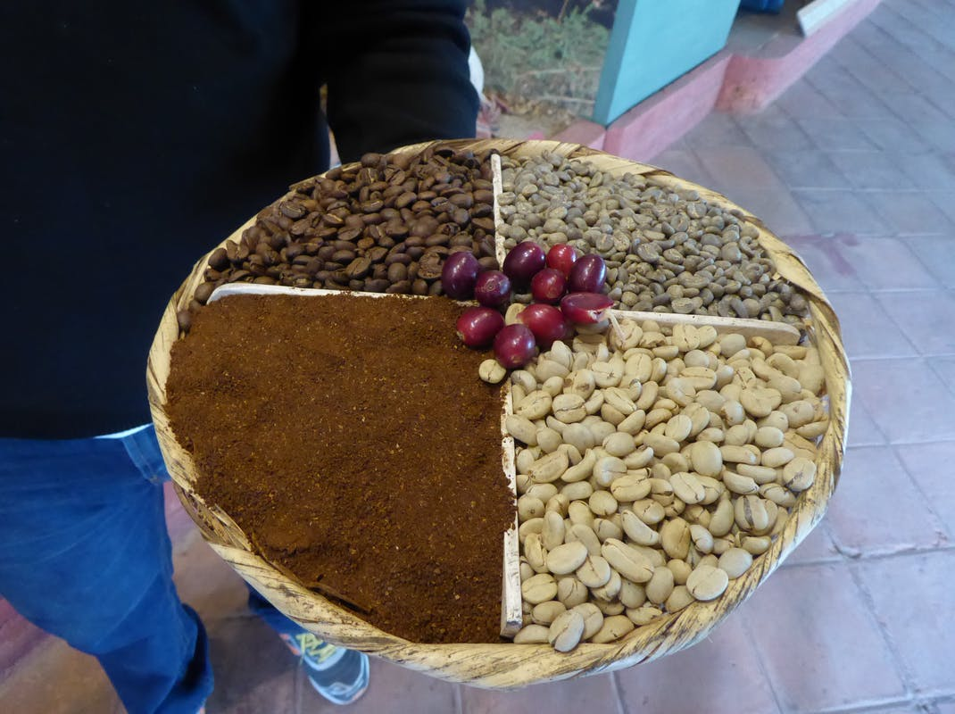 Stages of coffee processing in Guatemala