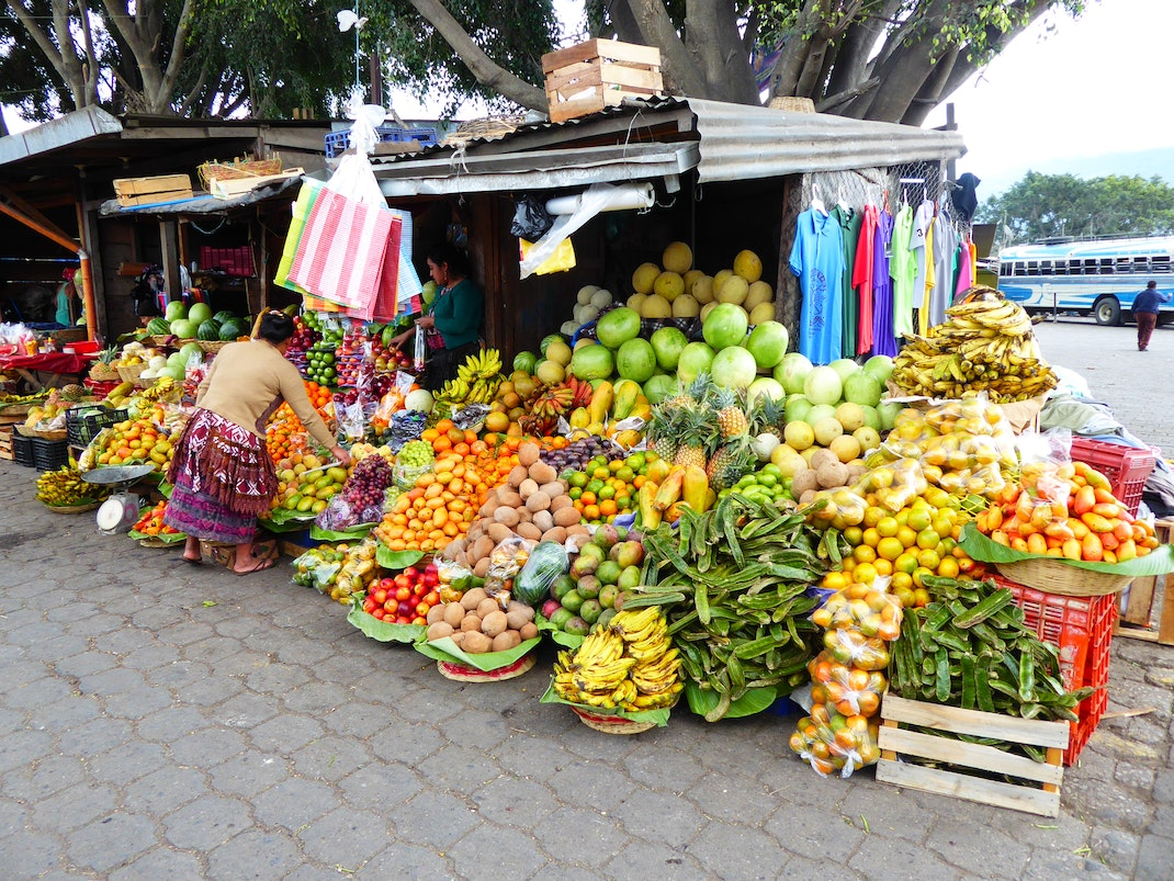 Fresh fruit market in Antigua Guatemala