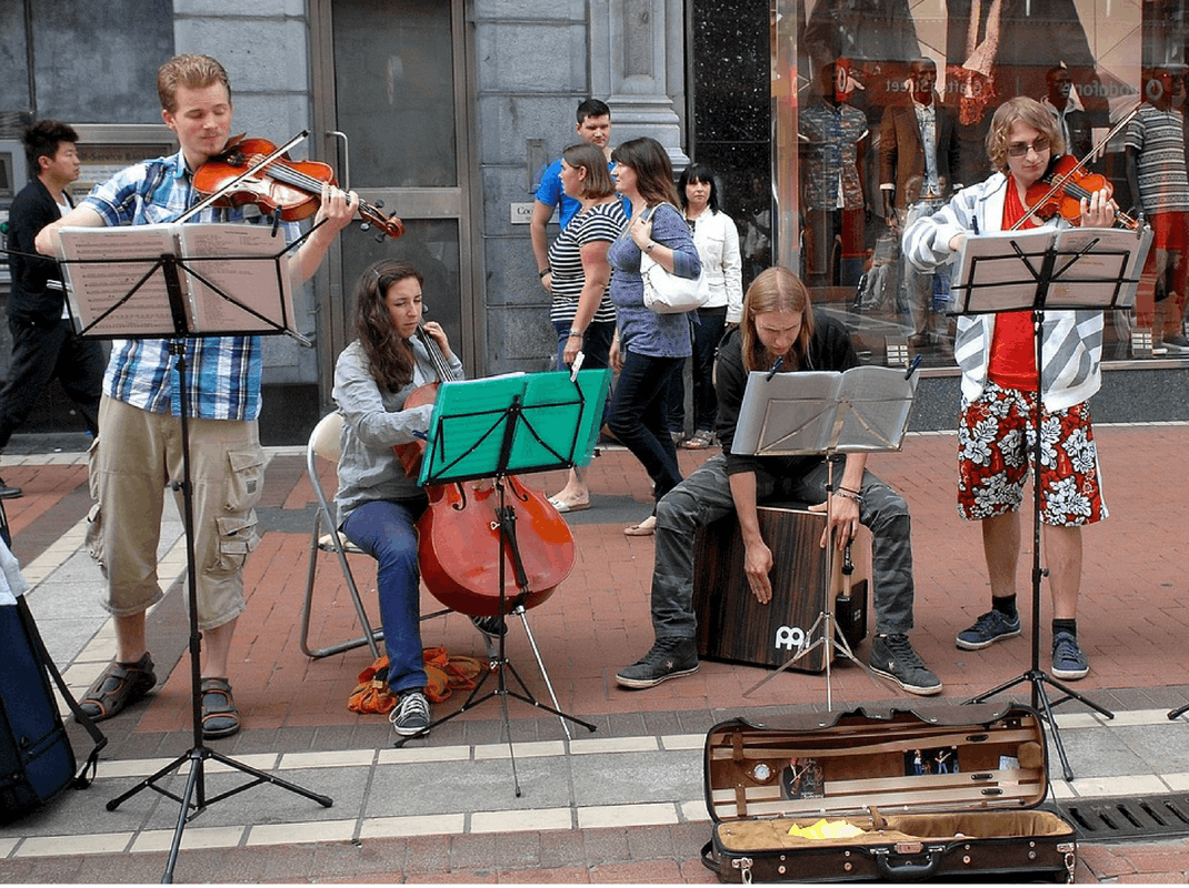 Street Musicians in Dublin Ireland