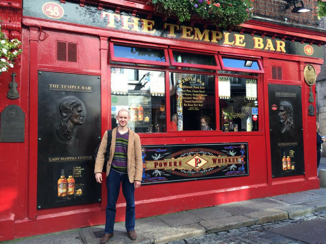 Intern visiting Temple Bar Dublin, Ireland