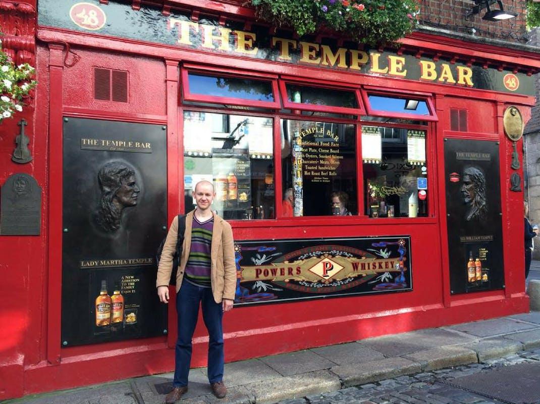 Intern visiting Temple Bar Dublin, Ireland