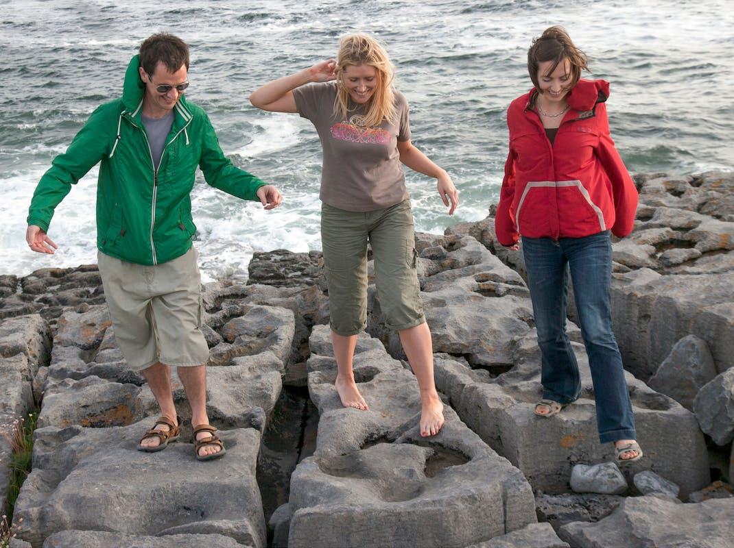 Students enjoy the coast in Ireland