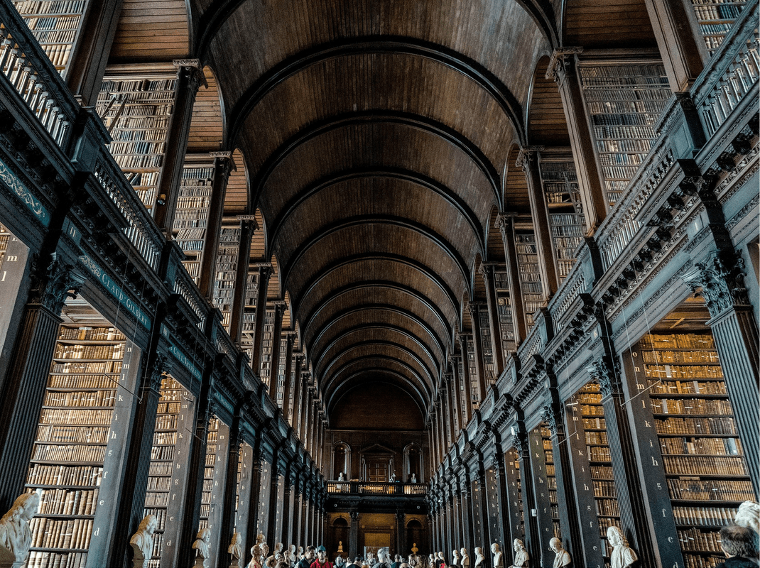 Trinity College Library, Dublin, permanent home to the Book of Kells