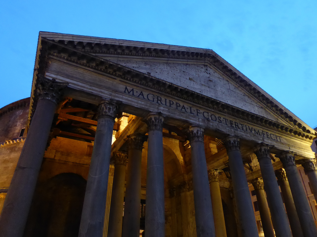 Outside The Pantheon at night, Intern Abroad HQ