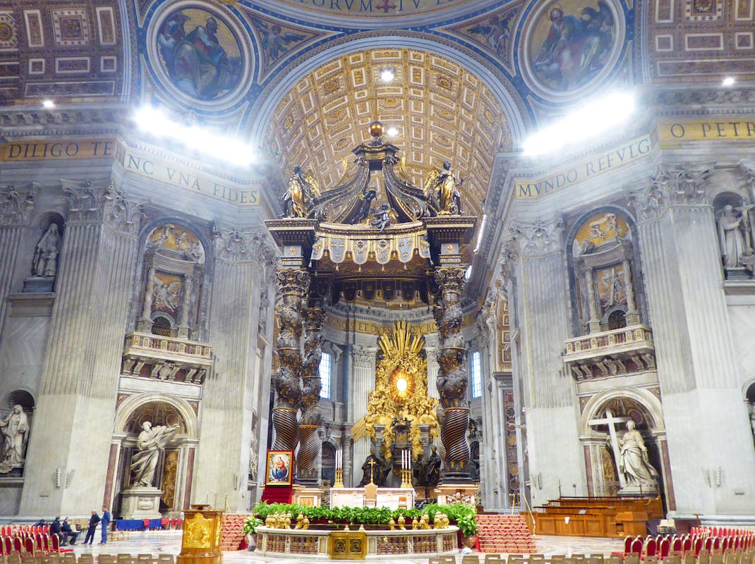 Inside St. Peter's Basilica, Intern Abroad HQ