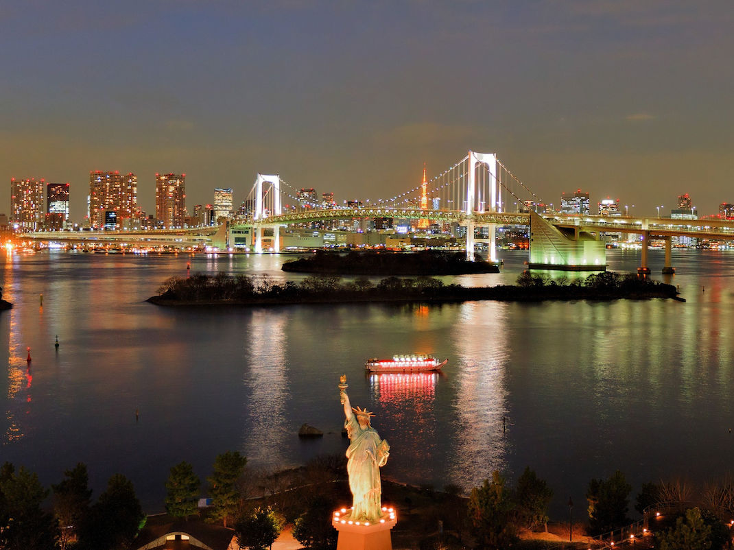 Bright lights of Tokyo and the Rainbow Bridge in Japan, Intern Abroad HQ