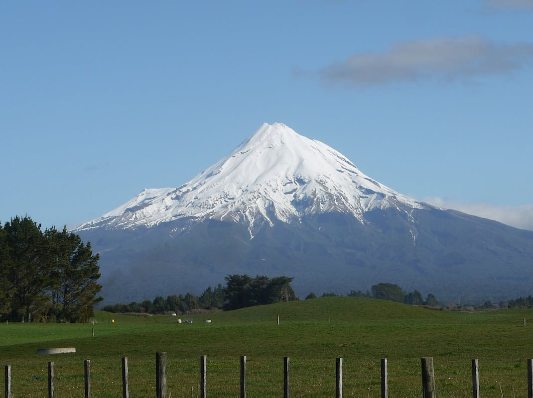 Mount Taranaki in Taranaki, New Zealand