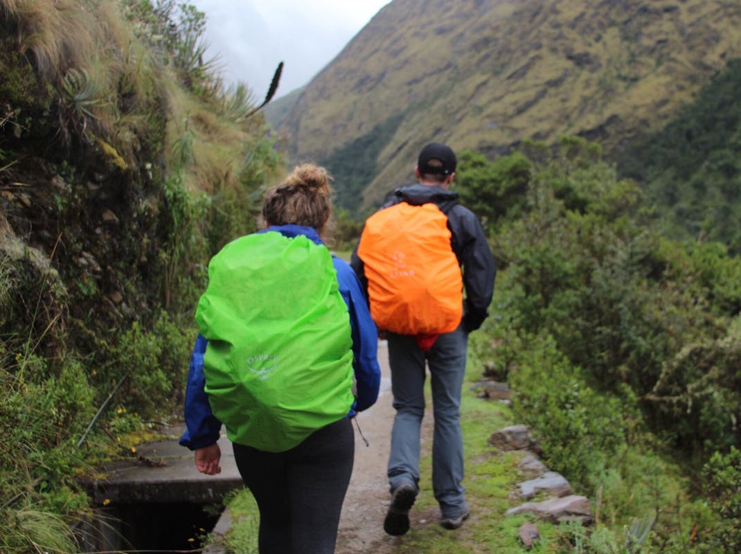 Interns hiking the Salkantay Trail in Peru