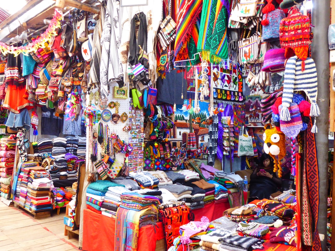 Colorful artisan markets in Cusco, Peru