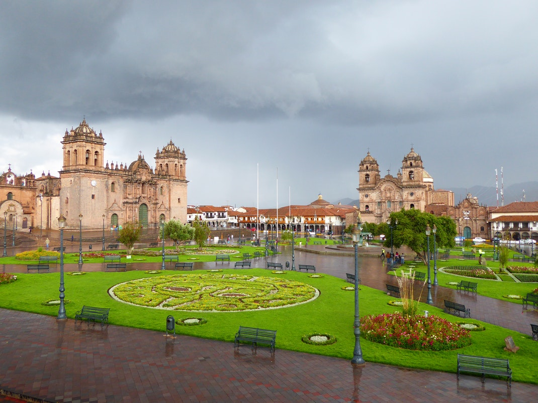 View of the Plaza de Armas in Cusco, Peru