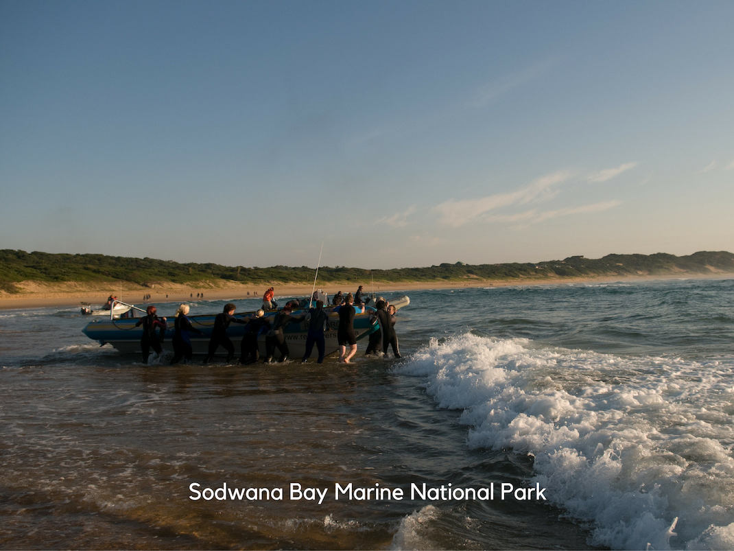Marine Conservation Internships in Sodwana Bay surf launch scuba diving